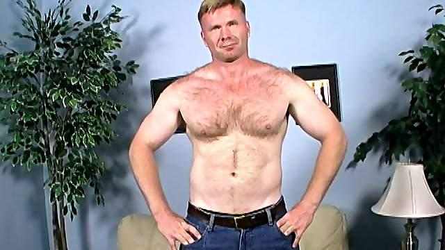 Muscular gay daddy sucks a black wang and gets his ass drilled