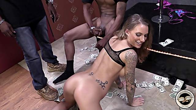 Behind-the-scenes interracial gangbang with Juelz Ventura