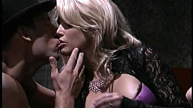 Charming blonde anal penetrated hardcore in mmf porn