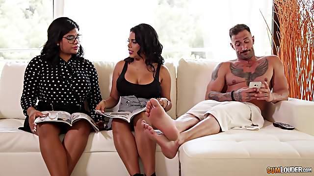 Busty Sheila Ortega has her tits covered in warm jizz