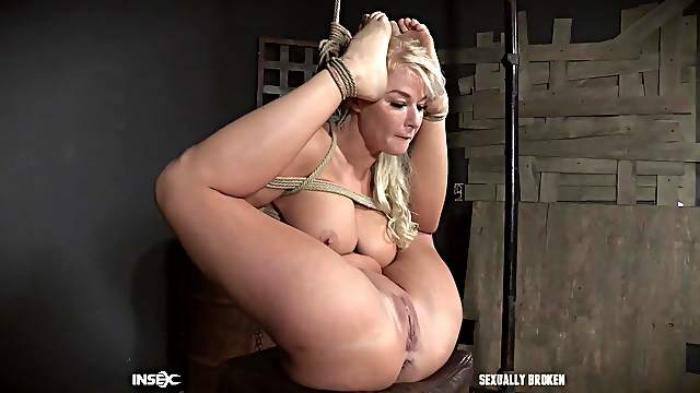 London River tied up with her ass sticking out for an anal fuck