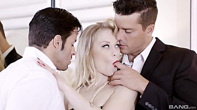 Cheating wife Ash Hollywood fucked by her husbands best friend
