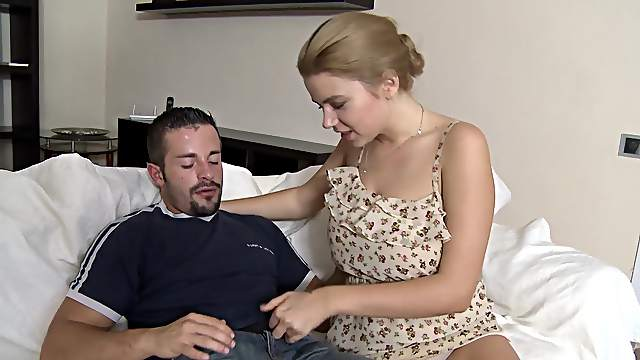 Cum loving chick gets a facial ending after hardcore fucking