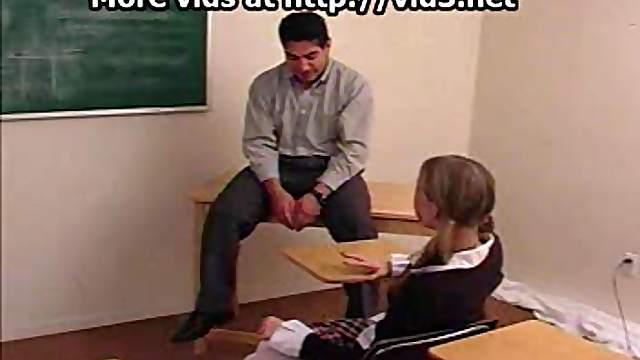 Schoolgirl is spanked by teacher