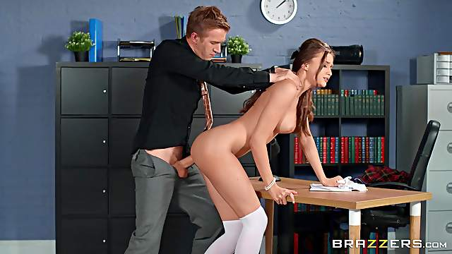 Marvelous scenes of merciless sex with a hot student