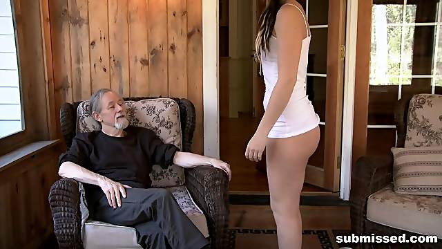 Teen stepdaughter loves being ass spanked and fucked in hardcore