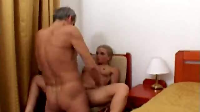 Old man fucks hot young Romanian girl