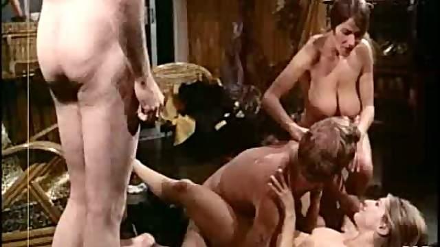 Kinky Joyce Adams & Uschi Digard Fucked in MMFF Foursome