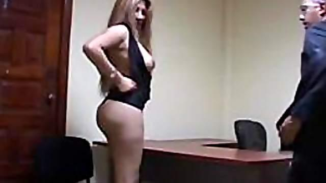 Mexican Slut Sucks And Fucks In The Office
