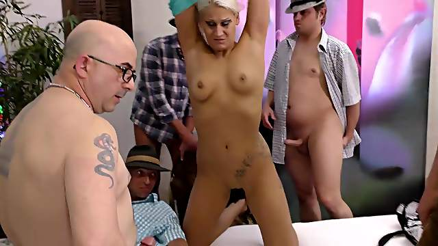 Extreme wild lederhosen gangbang groupsex fuck party swinger orgy with hot chicks