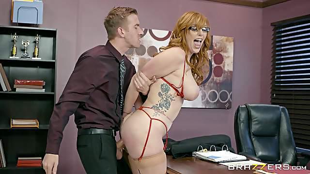 Ginger office worker called Lauren getting bonked like never before