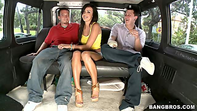 Breanne Benson has two cocks for her
