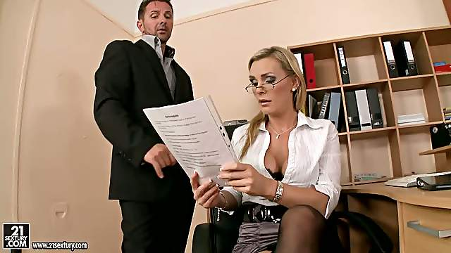 Hardcore Action in the Office with Busty Blonde Tanya Tate