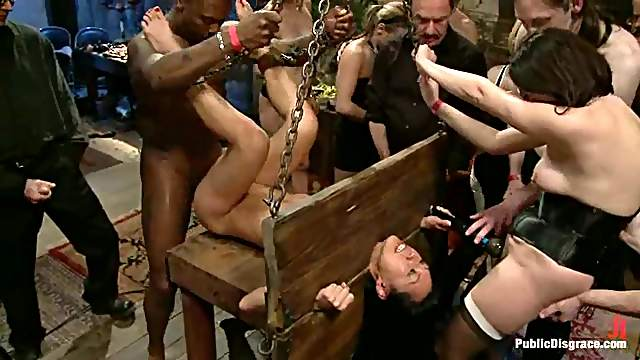 Naughty Tia Ling gets double penetrated by Blacks in public