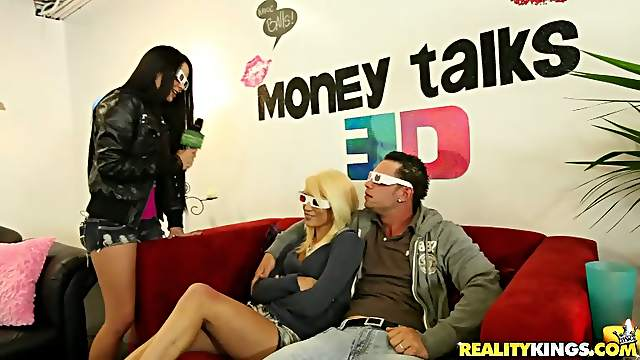 Blonde Girl Gets Fucked Hard with Her 3D Glasses On