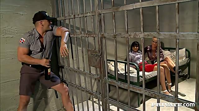Blonde And Brunette Sluts Fucking In Jail