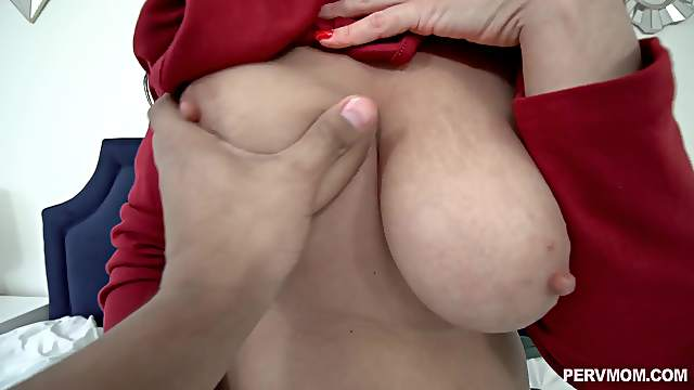 Mature with natural saggy boobs, insane POV anal