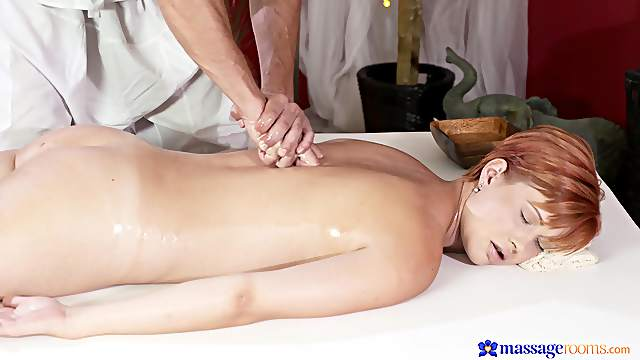 Massage makes the horny wife to crave for sex
