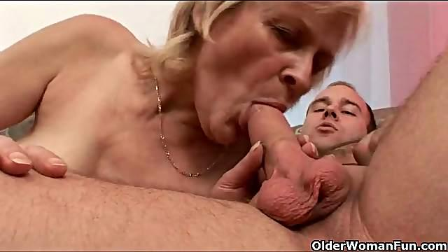 Granny looks good getting fucked in stockings