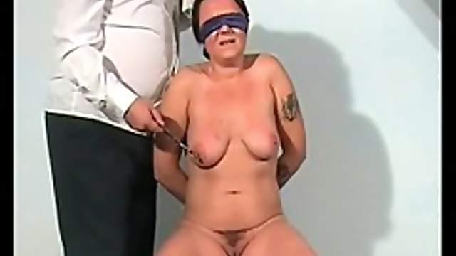 Tit and clit pain for the slut