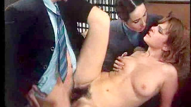 Classic fuck with hairy pussy girl