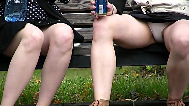 Horny voyeur enjoys watching hotties