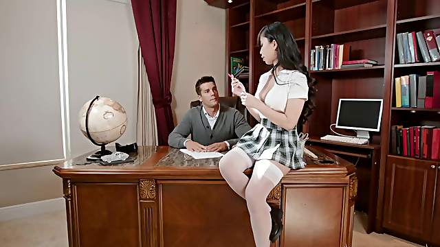 Asian schoolgirl intense sex scenes with the teacher