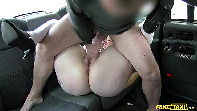 Doggy perfection on the back seat with a hot mature