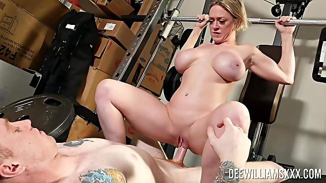 Amateur MILF bends ass for sex down at the gym