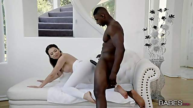 Melissa Moore takes nine inches of black cock